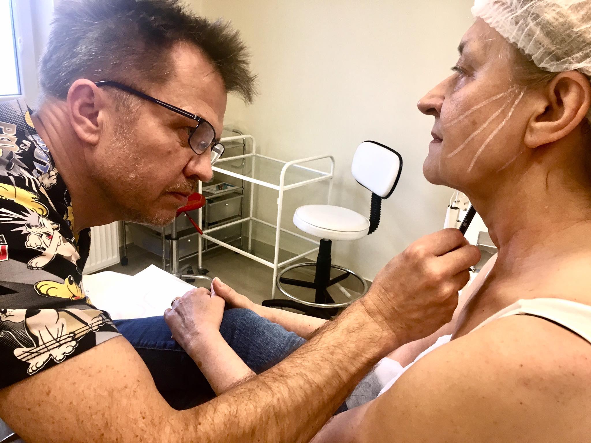 Przygotowanie doliftingu nićmi PDO - klinika Re Vitae Kielce